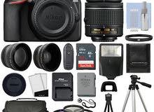 كاميرا نيكون Nikon D3500 استعمال بسيط جدا بملحقاتها