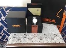 ساعة كارديال ألماس رجالية .. مع وجود شهادة توثيق الالماس  أصلية وجديدة