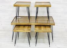 طاولات 5 قطع خشب جديده بالكرتون خامه ممتازه