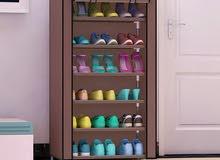 خزانه احذيه قماش اطار حديد  متوفر بالوان واحجام مختلفه