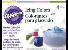 ألوان جل للطعام من شركة ويلتون الأمريكية