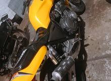 دراجه ناريه بطح لون اصفر محرك 400