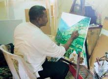 فنان تشكيلي - مصمم لوحات فنية - رسام