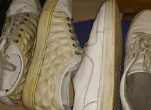 حذائين ابيض مقاس 45