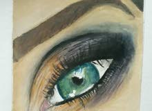 رسمة عين حقيقية realistic eye draw