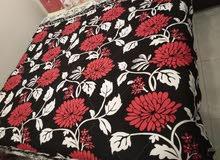 مفرش وشرشف سرير تركي قطعتين قماش قطن ممتازة