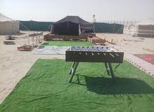 للاجار مخيم 35 في اليوم ميناه عبدالله مخيم كبير سبع خيم سبع حمامات ومطبخ وملعب