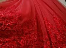 فستان خطبة أنيق جديد لبسة لمدة ساعتين بحالة الوكالة