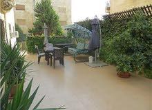 شقة ارضية مميزة للبيع في السابع 150م مع حديقة وترسات 150م تشطيب سوبر ديلوكس