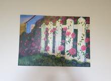 لوحة فنية rose garden fence