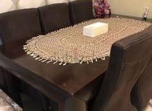 طاولة طعام ستة كراسي