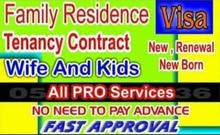 Family Visa and Tenancy Contract available at very cheap price