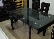 تصفية طاولة مع 6 كراسي سحاب