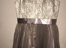 فستان انيق باللون اللؤلؤي و النهدي البارد (قصة الباربي) من كندا