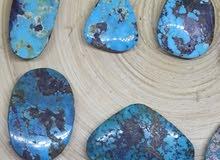 احجار كريمة للبيع - احجار الفيروز الازرق النيشابوري الطبيعي