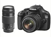 كاميرا كانون1100d كامل ملحقات مع زوم 300_75