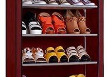 خزانة الأحذية المصنوعة من القماش والحديد المكون من 4 طبقات
