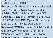 ROG gaming laptop gtx1050Ti