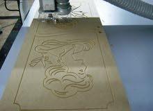 ماكينه cnc نقش ورسم الخشب مع مخرطه خشب على الكمبيوتر