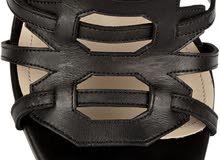 Paul Andrew - Athena Caged Knee-High Sandal, Black حذاء نسائي أصلي - ماركة بول أ