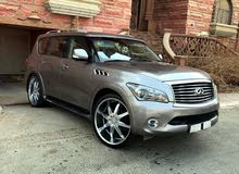 Grey Infiniti QX56 2012 for sale