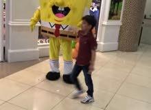 للايجار شخصية سبونش بوب المربع المحبوبه للاطفال بسهر مميز من فريق الابتسامه للاطفال