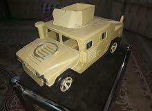 نموذج مصغر لعجلة همر يدوي خشب ديكور للبيت
