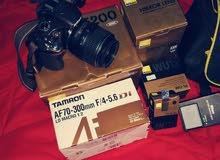 كاميرا Nikon d5200 + TAMRON AF70-300MM
