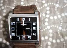 Magnum curved leather watch with bracelet (100% leather)