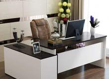 مكتب مدير لمكتبكمودرن خشب MDF اسباني اكليريك +سايد جانبي ووحدة بسعر مناسب جداً