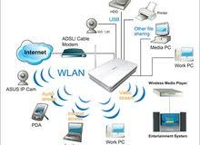 تركيب وصيانة الشبكات السلكية والوايرليس