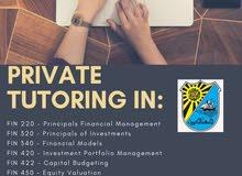 مدرس خصوصي لمواد التمويل، خدمة عمل واجبات لمواد إدارة الاعمال