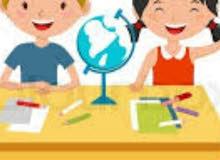 ابحث عن معلم او معلمة  يجوني للحوش لتعليم طفلين سن ال5 سنوات و سن 9 سنوات جميع ا