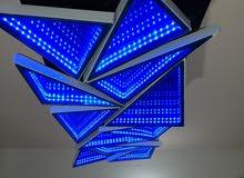 نجفة سقف باضاءة 3d لون ازرق حجم 120*40سم