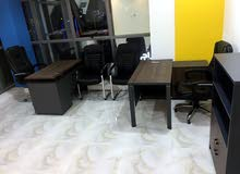 مكتب مؤثث جاهز للايجار في الخوض
