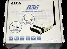 راوتر ألفا R36 جديد Alfa wireless router