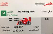 RTA seasonal parking card for B &D zones.