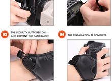 Professional Shooting PU Leather Camera Grip Wrist Band Strap Hand Strap For Cam
