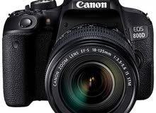 كاميرا كانون 800D مع عدستها جديدة للبيع