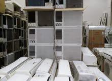 للبيع جميع انواع المكيفات الشباك مستعمله مع التوصيل حار بارد