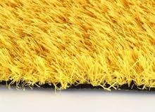 عشب صناعي ملون  لون اصفر