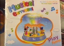 لعبة للاطفال تصدر موسيقة وضوء تساعد الطفل على النومMusical carousel