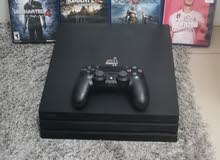 PS4 Pro 1TB 4K Jet Black With 3 controllers and games