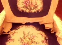 عدد اثنان فقط - قماش كرسي اوبيسون - صنع بلجيكا-شغل يدوي