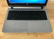 HP PROBOOK 450 G3 جيل خامس رمات : 8 جيجا // هارد : 500 ساتا استيرااااد كالجديد بالظبط