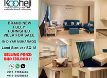 Brand New & Fully Furnished 2 Storey Villa for Sale in Diyar Muharraq.