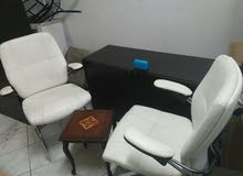 2 cupboards+ 1 side cabinet ...2 Office chairs with small table
