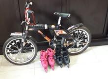 دراجة رامبو +قفل +2زلاجات بي