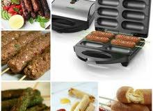 الة شواء كباب وكفته لطعام صحي خالي من الدهون