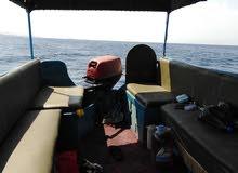 قارب نزهه للبيع مرخص بحمولة 12 راكب وعليه ماتور سوزوكي 30 حصان كسر صندوق